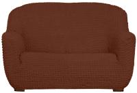 Чехол на диван - 2 местный Софатэкс Стандарт ПО-14 без оборки (шоколад) -