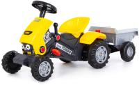 Каталка детская Полесье Turbo-2 Трактор с педалями и полуприцепом / 89342 (желтый) -