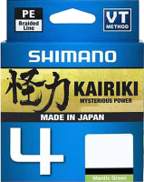 Леска плетеная Shimano Kairiki 4 PE 0.13мм / LDM54TE1013015G (150м, зеленый) -