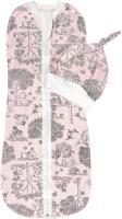 Пеленка-кокон детская Amarobaby Soft Hugs Лесная сказка / AMARO-5701SH2-LS-06 (розовый, р-р 68-74) -