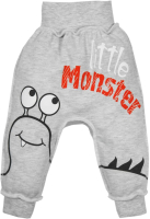 Штаны для младенцев Amarobaby Monsters / AMARO-ODM6-S0-62 (серый, р. 62) -