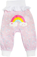 Штаны для младенцев Amarobaby Rainbow / AMARO-ODRB6-80 (розовый, р-р 80-86) -