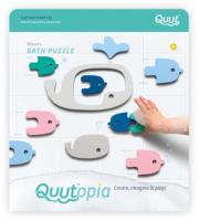 Набор игрушек для ванной Quut Мягкий 2D пазл Quutopia Киты / 171027 -