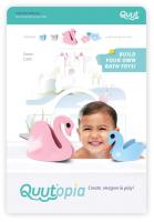 Набор игрушек для ванной Quut Мягкий 3D конструктор Quutopia Лебединое озеро / 171126 -