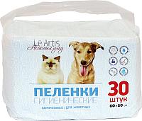 Одноразовая пеленка для животных Le Artis 60x60см (30шт) -