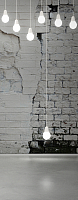 Фотообои Citydecor Лампочки 3D (100x254) -