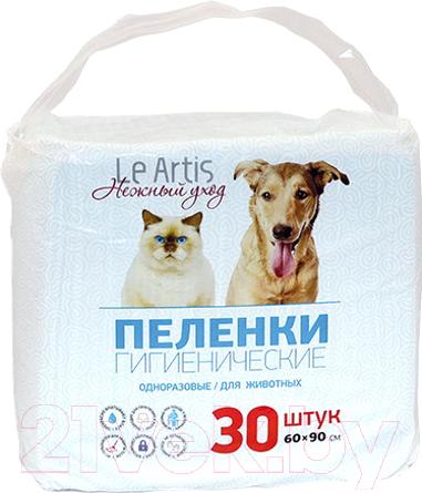 Купить Одноразовая пеленка для животных Le Artis, 60x90 (30шт), Россия
