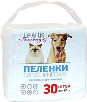 Одноразовая пеленка для животных Le Artis 60x90 (30шт) -