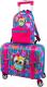 Детский чемодан DeLune Lune-001 + рюкзак (розовый) -