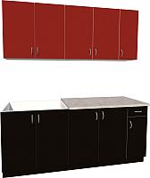 Готовая кухня Хоум Лайн Агата 1.9 (черный/красный) -