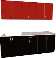 Готовая кухня Хоум Лайн Агата 2.2 (черный/красный) -