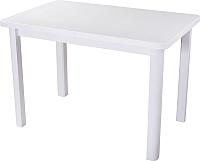 Обеденный стол Домотека Альфа ПР-М (белый/белый/04) -