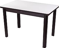Обеденный стол Домотека Альфа ПР-М (белый/венге/04) -