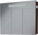 Шкаф с зеркалом для ванной АВН Латтэ 100 / 41.17 (со светильником) -
