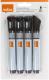 Набор маркеров NOBO 1905322 (4шт, черный) -