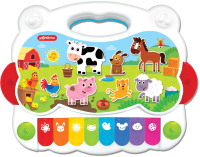 Музыкальная игрушка Азбукварик Пианино Песенки на ферме / AZ-2809 -