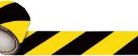 Лента сигнальная Howard 75ммx100м (желтый/черный) -
