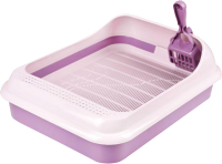 Туалет-лоток Альтернатива Феликс / М6975 (с совком, фиолетовый) -