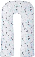 Подушка для беременных Amarobaby Exclusive Soft Collection U-образная Треугольники / AMARO-40U-SC -
