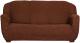 Чехол на диван - 3 местный Софатэкс Стандарт ПО-6 без оборки (шоколад) -