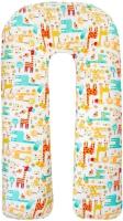 Подушка для беременных Amarobaby U-образная Жирафики / AMARO-40U-G (белый) -