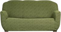 Чехол на диван - 3 местный Софатэкс Стандарт ПО-6 Венеция без оборки (зеленый) -