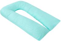 Подушка для беременных Amarobaby U-образная Сердечки / AMARO-40U-SM (мята) -