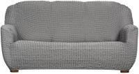 Чехол на диван - 3 местный Софатэкс Стандарт ПО-6 без оборки (серый) -