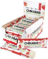 Протеиновые батончики Chikalab Клубника со сливками (20x60г) -