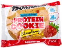 Протеиновое печенье Bombbar Клубника (10x60г) -