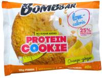 Протеиновое печенье Bombbar Апельсин-имбирь (12x40г) -