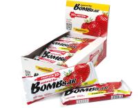 Протеиновые батончики Bombbar Клубника (20x60г) -