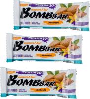 Протеиновые батончики Bombbar Миндаль-ваниль (20x60г) -