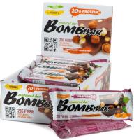 Протеиновые батончики Bombbar Шоколад-фундук (20x60г) -
