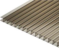 Сотовый поликарбонат TitanPlast 2100x1000x3.8мм (бронзовый) -