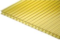 Сотовый поликарбонат TitanPlast 2100x1000x3.8мм (желтый) -