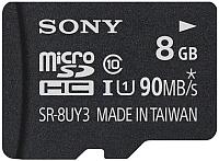 Карта памяти Sony microSD (Class 10) 8ГБ + адаптер (SR8UY3AT) -