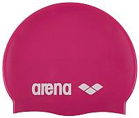 Шапочка для плавания ARENA Classic Silicone Cap / 91662 91 (Fuchsia/White) -