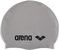 Шапочка для плавания ARENA Classic Silicone Cap 91662 51 (Silver) -