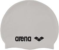 Шапочка для плавания ARENA Classic Silicone Cap / 91662 15 (White/Back) -