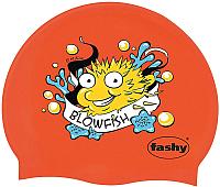 Шапочка для плавания Fashy Childrens Silicone Cap / 3047-00-93 (рыба-игла/красный) -