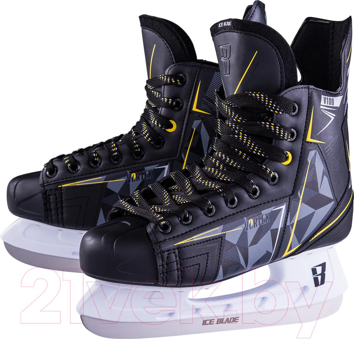 Купить Коньки хоккейные Ice Blade, Vortex V100 (р-р 38), Россия, черный, пластик