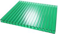 Сотовый поликарбонат TitanPlast 2100x1000x6мм (зеленый) -