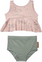 Купальник детский Happy Baby Двухпредметный / 50611 (розовый/зеленый, р.80-86) -