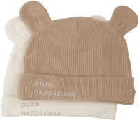 Набор шапочек для младенцев Happy Baby 90099 (бежевый/молочный, р.48) -