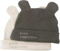 Набор шапочек для младенцев Happy Baby 90099 (темно-зеленый/молочный, р.38) -