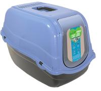 Туалет-домик Rosewood Eco Line / 84024/RW (черный/голубой) -