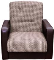 Кресло мягкое Интер Мебель Лондон (рогожка микс коричневый) -