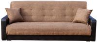 Диван Интер Мебель Лондон с 2 подушками (рогожка коричневый) -