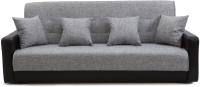 Диван Интер Мебель Лондон с 2 подушками (рогожка серый) -